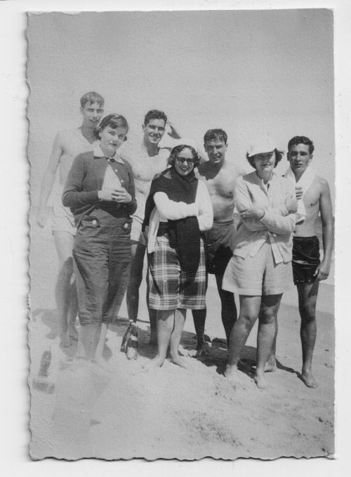 Lee Austin Joan Nickerson  Kerry Lyne  Patty Hurley  Edouard Emmet to the right of his sister & brother